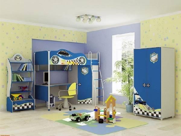 белая мебель для детской комнаты для мальчика, фото 5
