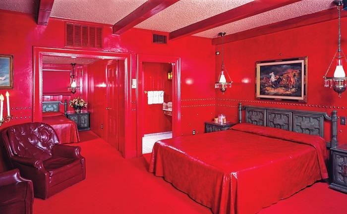 дизайн красной спальни, фото 28