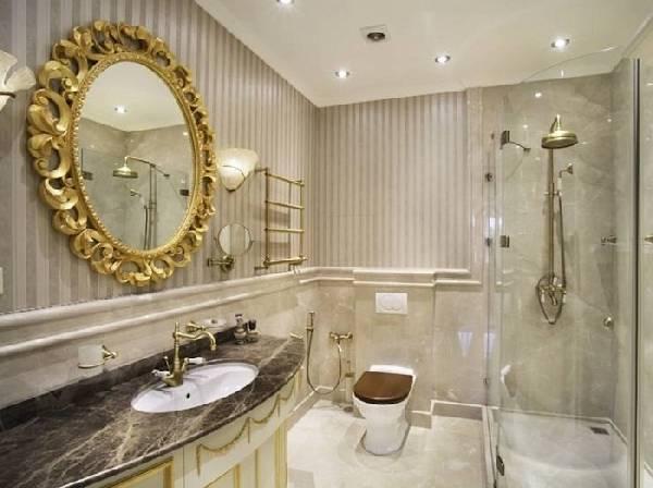 дизайн ванной совмещенной с туалетом, фото 29