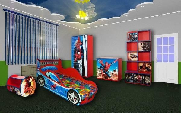 дизайн детской комнаты для мальчика с мебелью, фото 6