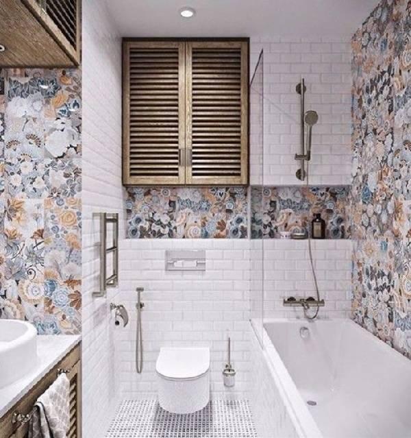 дизайн ванной комнаты совмещенной с туалетом, фото 3