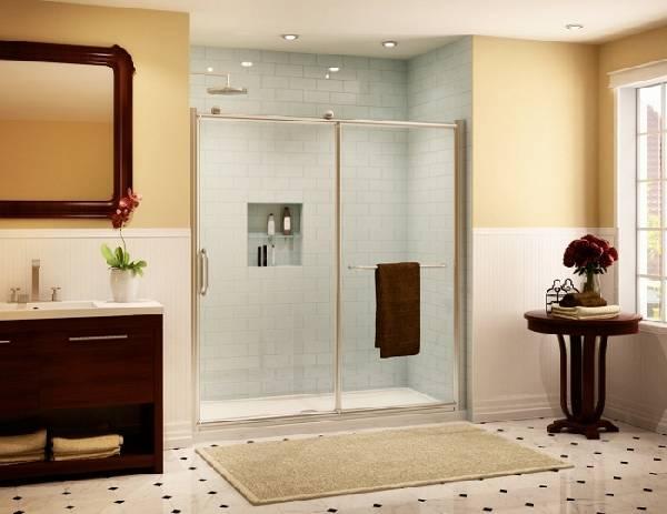 раздвижные стеклянные двери для душа, фото 1