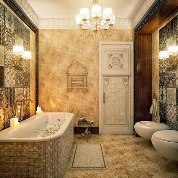 дизайн ванной комнаты в классическом стиле, фото 3