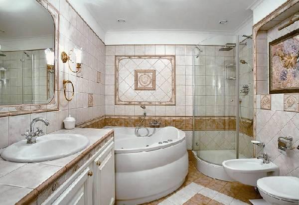 дизайн ванной комнаты совмещенной с туалетом, фото 30