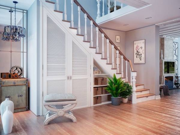 шкаф под лестницей на даче, фото 25