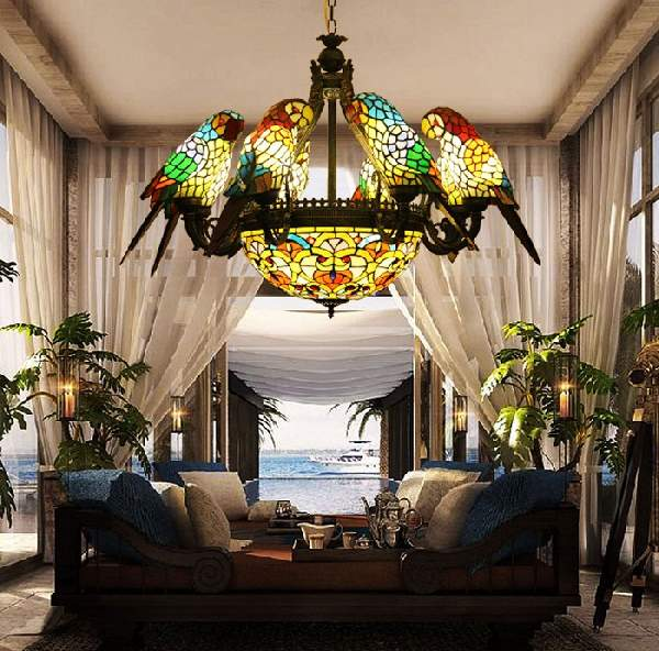 светильники из цветного стекла в восточном стиле, фото 32