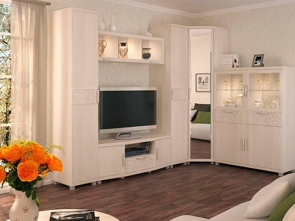 современные модульные стенки в гостиную, фото 30
