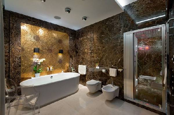 дизайн маленькой ванной комнаты совмещенной с туалетом, фото 33