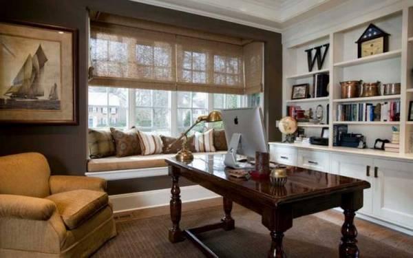 дизайн маленького кабинета в квартире, фото 33
