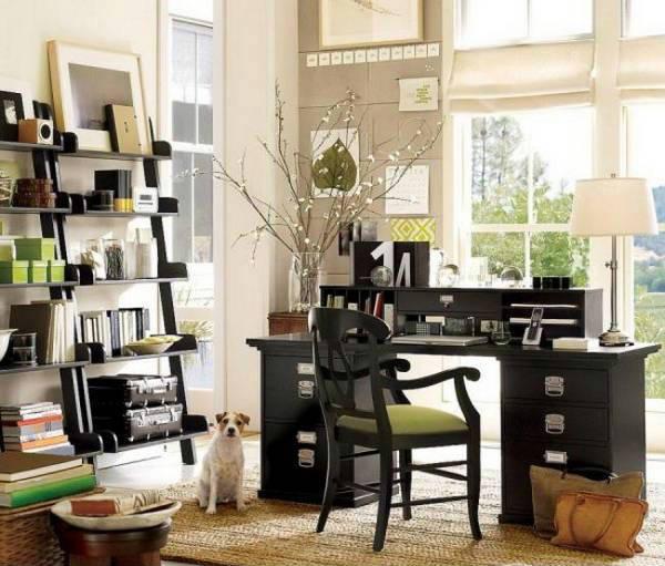 дизайн рабочего кабинета в квартире, фото 34