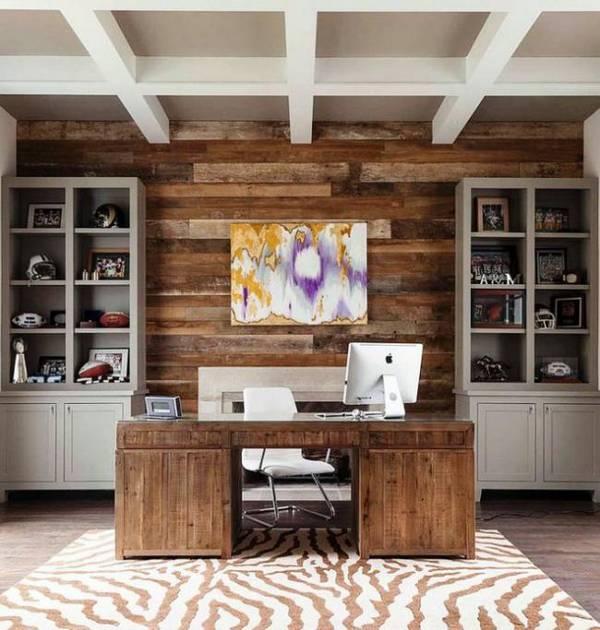дизайн рабочего кабинета в квартире, фото 35