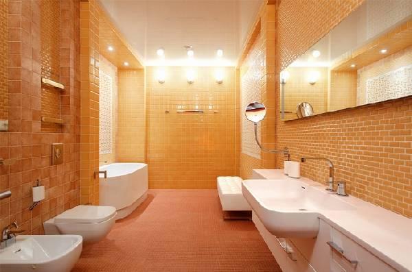 дизайн узкой ванной комнаты совмещенной с туалетом, фото 36