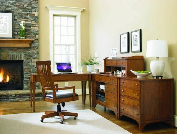 дизайн рабочего кабинета в квартире, фото 37