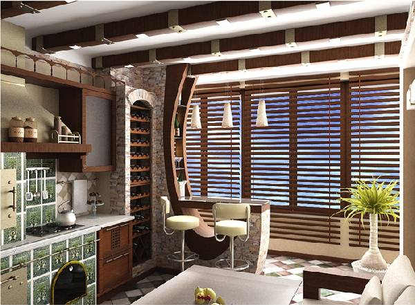 дизайн кухни с балконом 10 кв м, фото 4