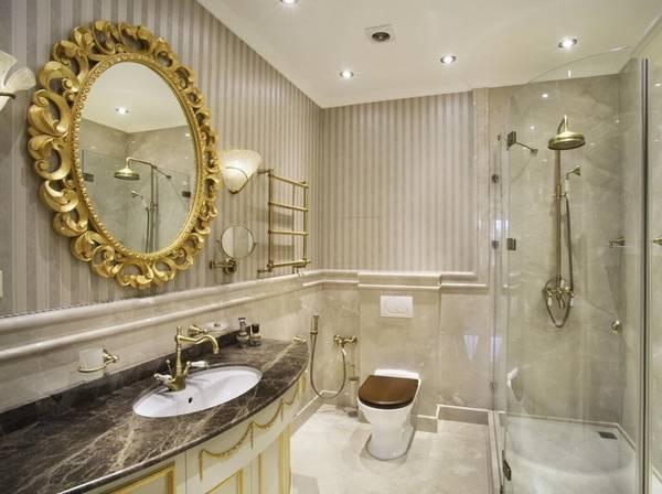 дизайн ванной комнаты в классическом стиле фото, фото 4