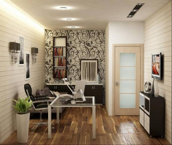 кабинет в квартире дизайн фото, фото 42