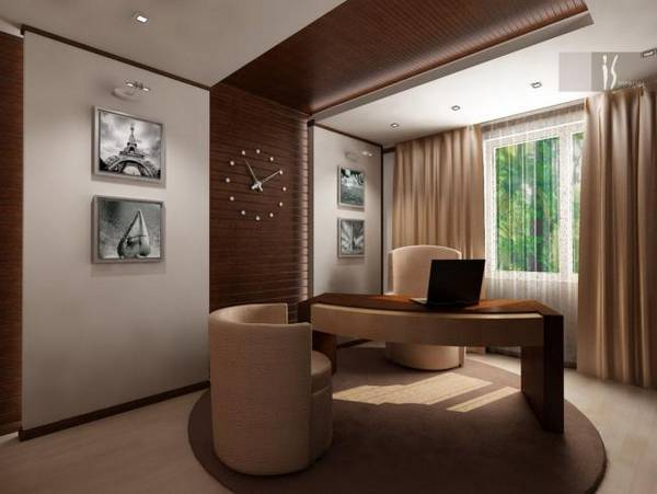 кабинет в квартире дизайн фото, фото 43