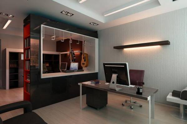 кабинет в квартире дизайн фото, фото 44