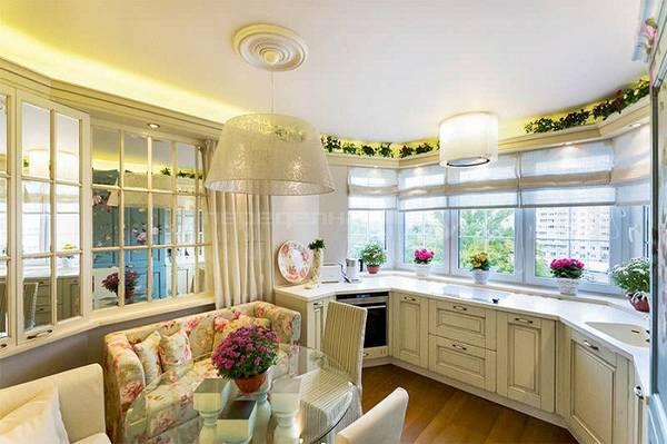 кухня с эркером, фото 43
