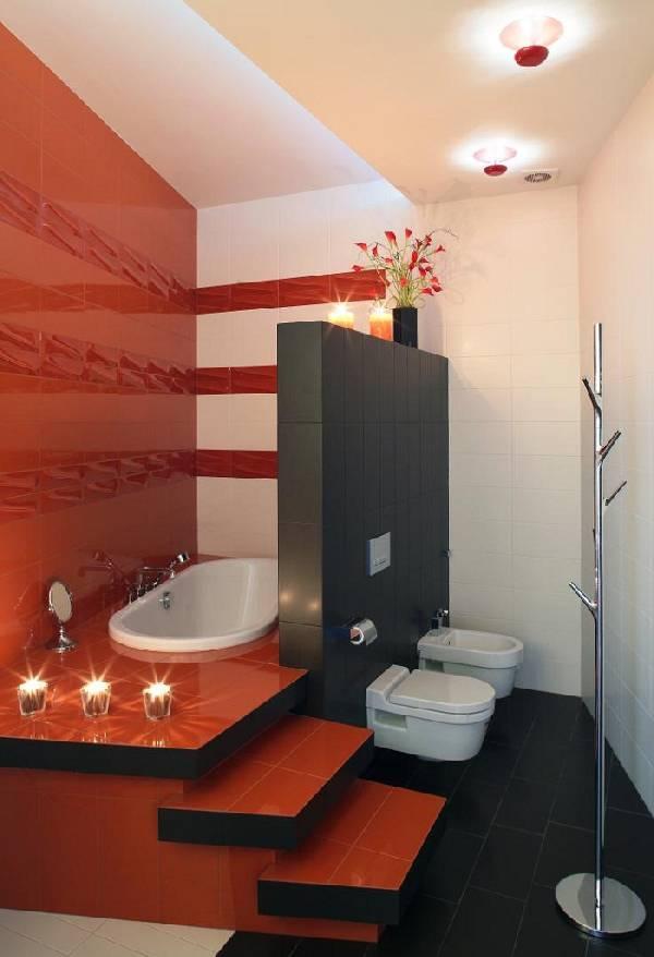 дизайн ванной комнаты с туалетом и стиральной машиной, фото 44