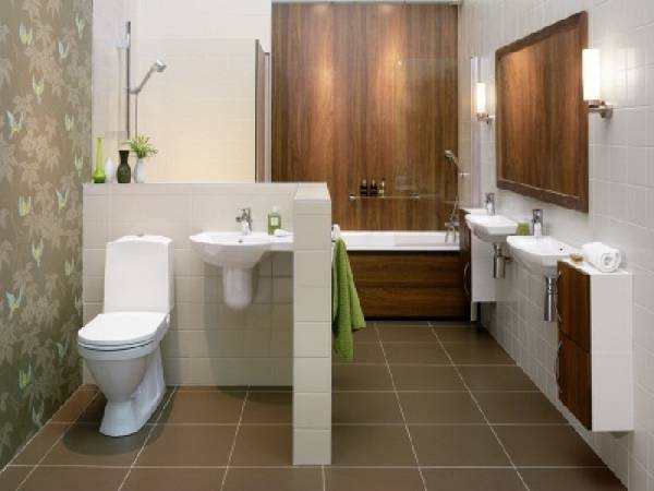 дизайн узкой ванной комнаты совмещенной с туалетом, фото 45