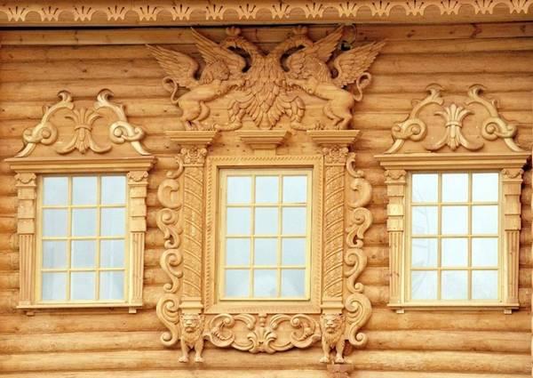 Красивые наличники на окна в деревянном доме, фото 5