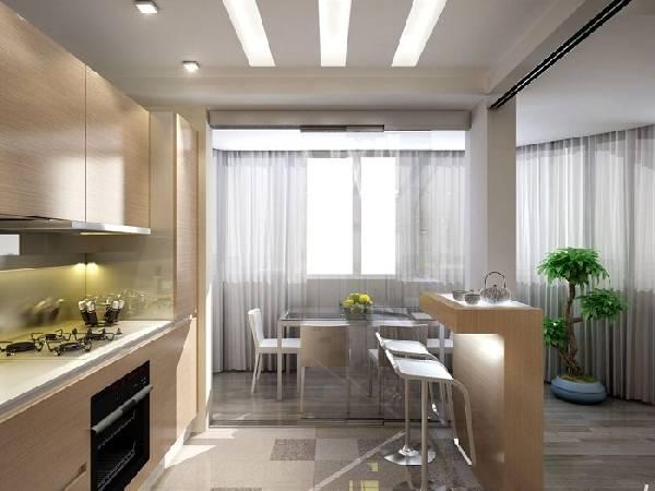 дизайн кухни с балконом 12 кв.м., фото 5