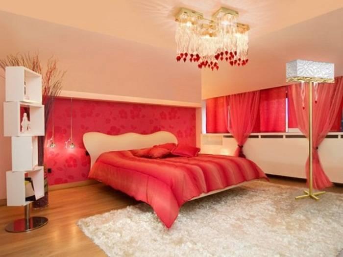 красно белая спальня дизайн фото, фото 17