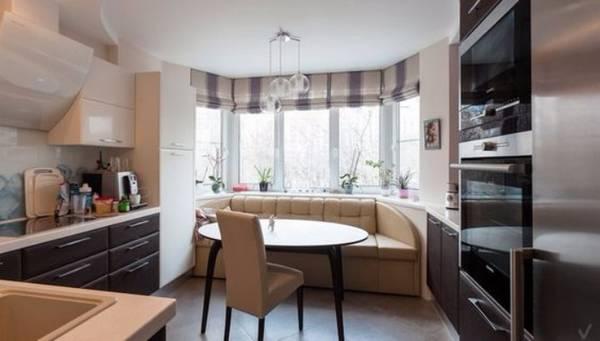 кухня в эркере дома дизайн, фото 6