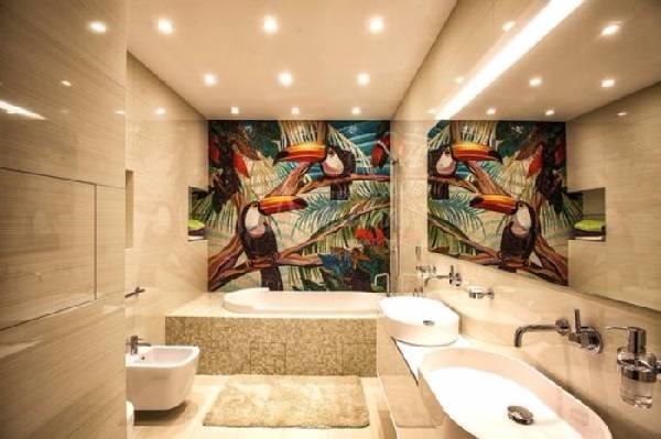 дизайн маленькой ванной комнаты совмещенной с туалетом, фото 6