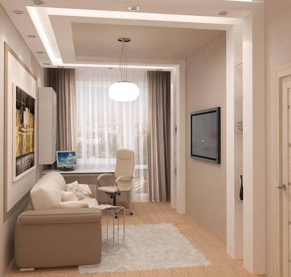 дизайн интерьера кабинета в квартире, фото 6