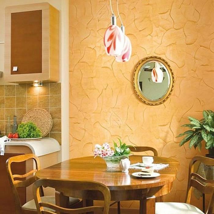 отделка стен на кухне декоративной штукатуркой, фото 5