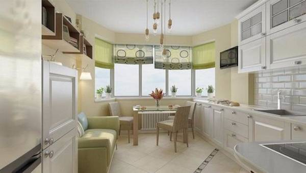 кухня гостиная с эркером дизайн, фото 7