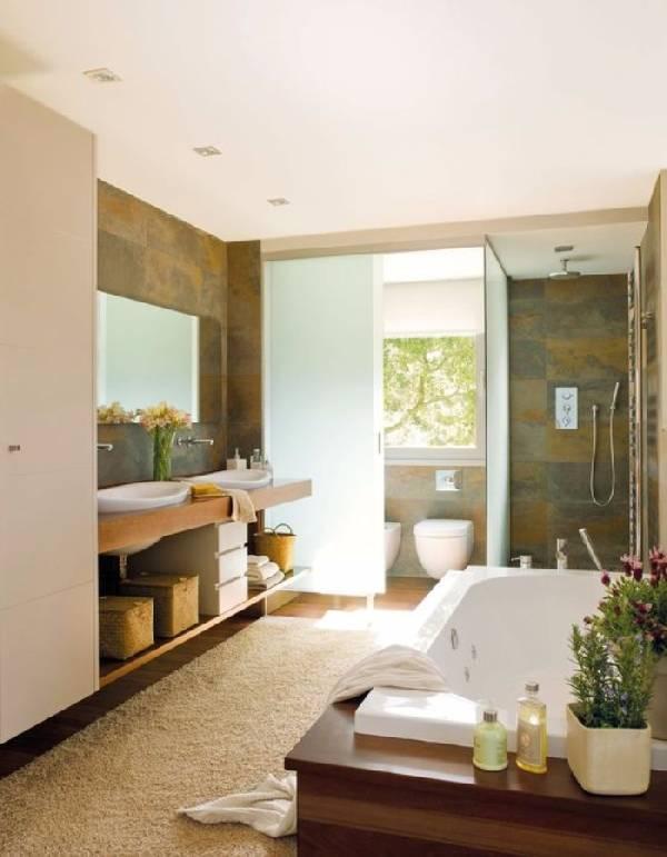 дизайн ванной комнаты совмещенной с туалетом, фото 21
