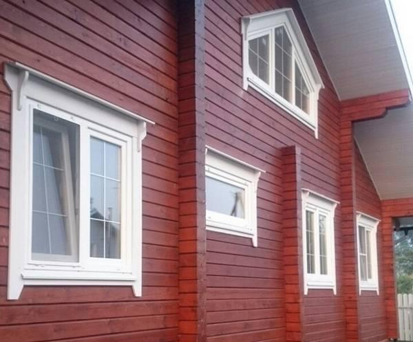 Финские наличники на окна в деревянном доме, фото 18