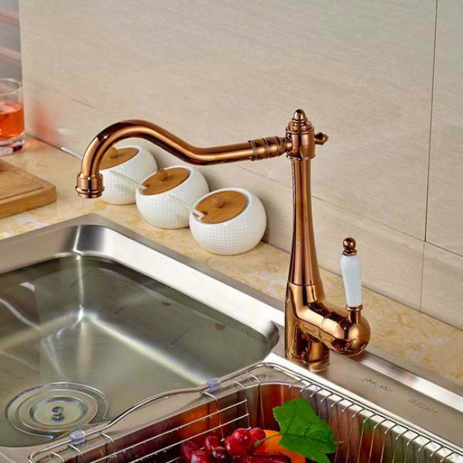 смеситель для кухни бронза, фото 7