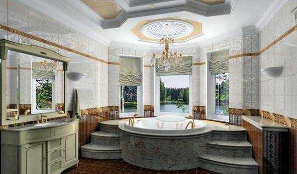ванная комната в классическом стиле, фото 7
