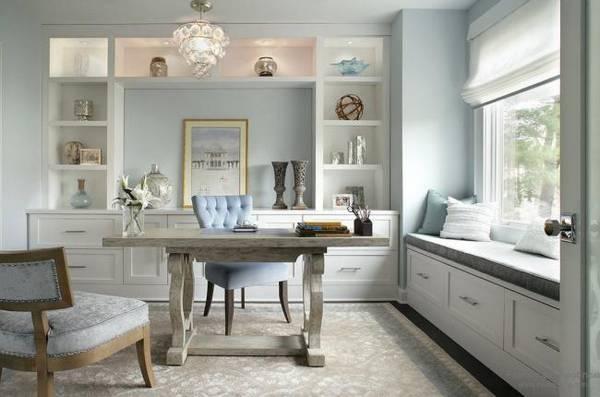 дизайн интерьера кабинета в квартире, фото 8