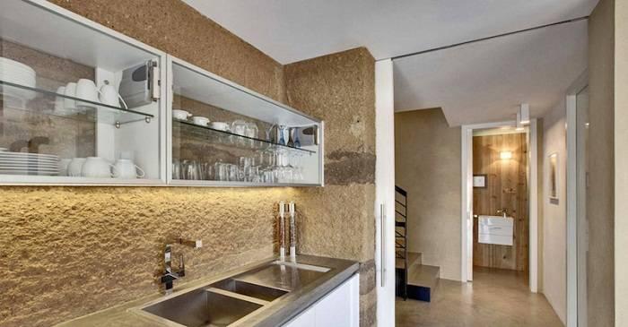 отделка стен на кухне декоративной штукатуркой, фото 7