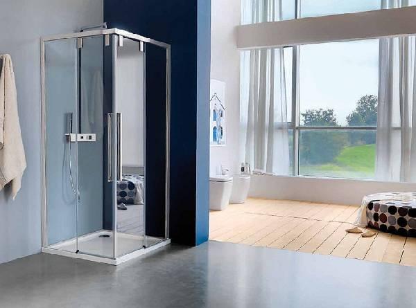 раздвижные стеклянные двери в душ, фото 6