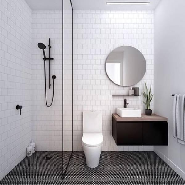 дизайн ванной комнаты с туалетом, фото 23