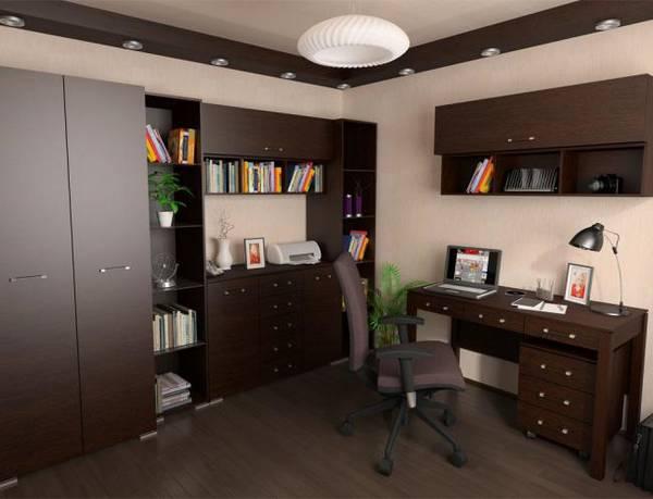 дизайн интерьера кабинета в квартире, фото 9