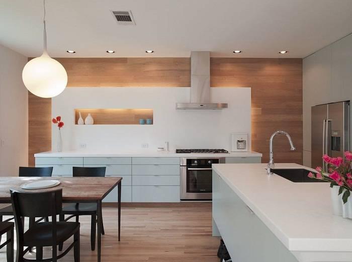 отделка стен ламинатом на кухне, фото 11