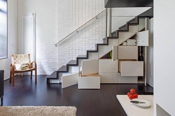 выдвижной шкаф под лестницей, фото 6
