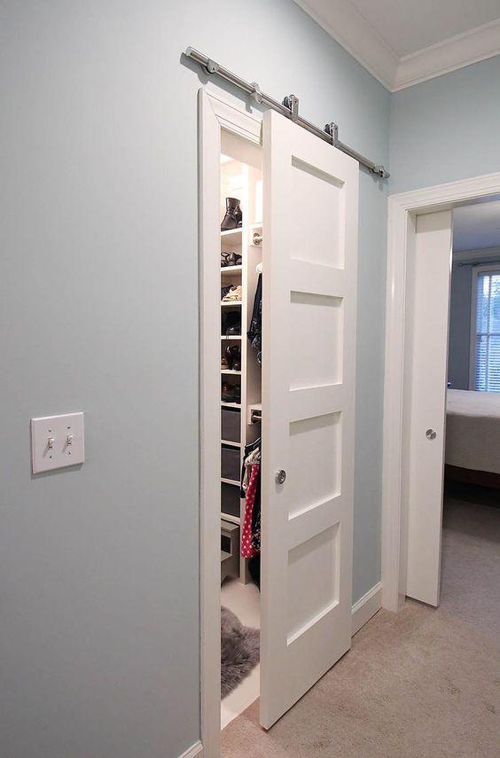 Раздвижные двери в гардеробную комнату, фото 30