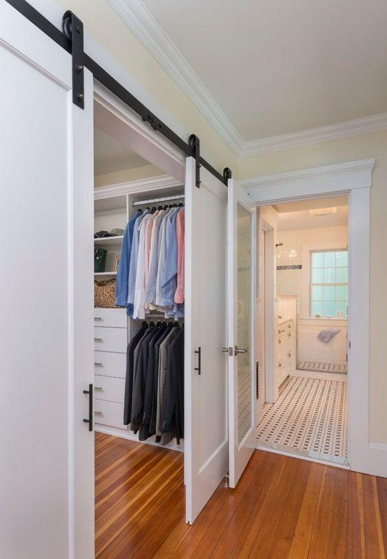 Раздвижные двери в гардеробную комнату, фото 32