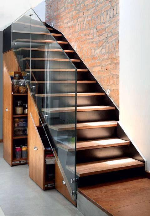 встроенный шкаф под лестницей, фото 20