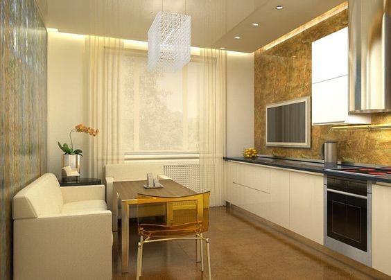 Белый диван на кухню со спальным местом