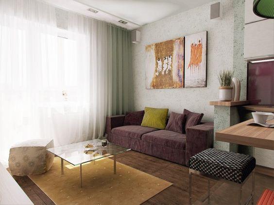Мягкий диван на кухню со спальным место в интреьре квартиры