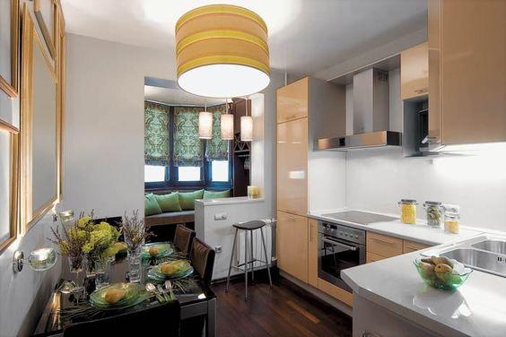 Кухня, совмещенная с балконом, фото 4